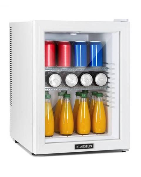 Klarstein Klarstein Brooklyn 42 White, mini chladnička, energetická trieda A, sklenené dvere, LED, polica, biela