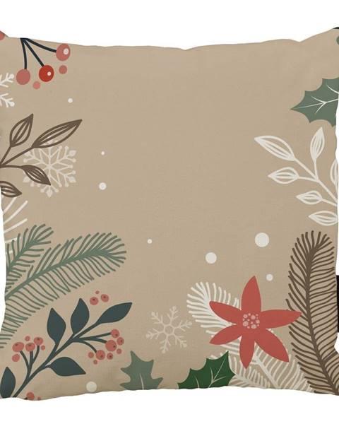 Butter Kings Vianočný vankúš s bavlnenou obliečkou Butter Kings Branches, 45 x 45 cm