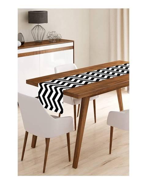 Minimalist Cushion Covers Behúň na stôl z mikrovlákna Minimalist Cushion Covers Black Stripes, 45×145 cm