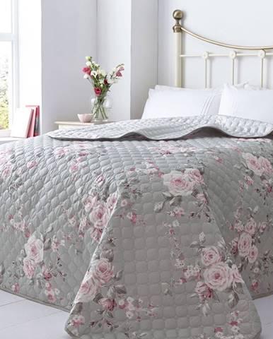 Pléd na posteľ Catherine Lansfield Canterbury Rose, 240×260cm