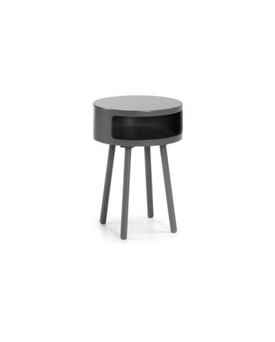 Sivý odkladací stolík s úložným priestorom La Forma Bruk