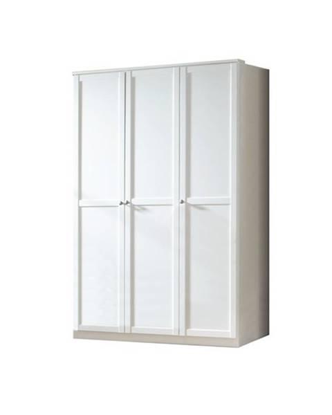Sconto Šatníková skriňa VANESS biela, 3-dverový