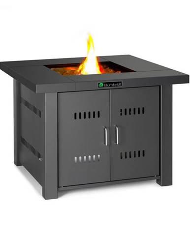 Blumfeldt Sorrento, plynový ohrievač & stôl, 13 kW, elektrické zapaľovanie, sklenené kamene, oceľ