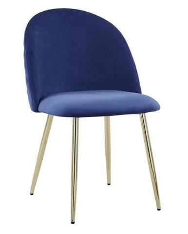 Jedálenská Stolička Artdeco Modrá