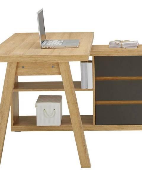 Möbelix Rohový Písací Stôl Riga