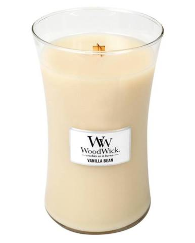 Vonná sviečka WoodWick Žltá vanilka, 110 hodín horenia