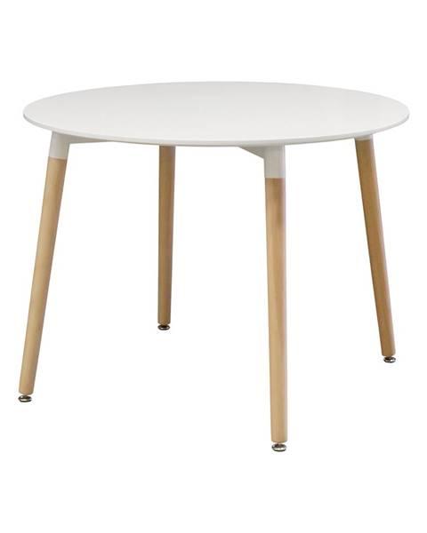 IDEA Nábytok Jedálenský stôl priemer 100 UNO biely