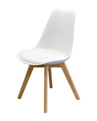 Jedálenská stolička QUATRO biela