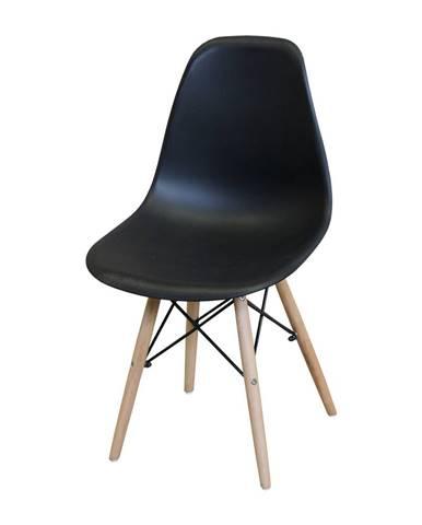 Jedálenská stolička UNO čierna