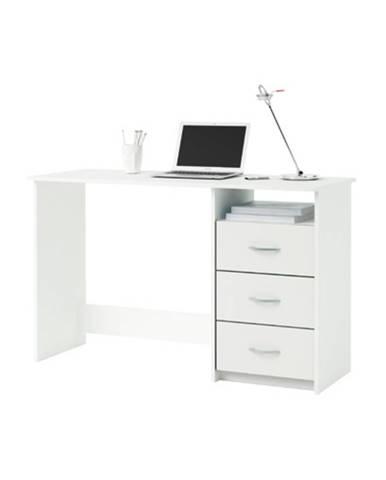 Písací stôl perleťovo biely