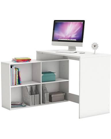 Rohový písací stôl CORNER biely