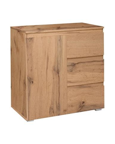 Komoda 1 dvere + 3 zásuvky IMAGE 2 zlatý dub