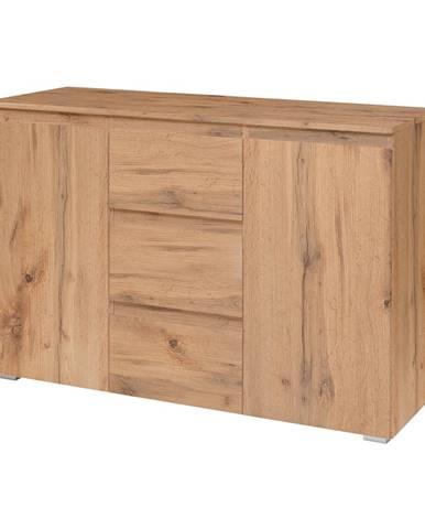Komoda 2 dvere + 3 zásuvky IMAGE 4 zlatý dub