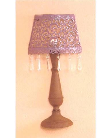 Nástenná dekoratívna kovová lampa fialová/hnedá
