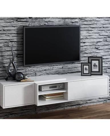 Artcam TV stolík SIGMA 1E WHITE / závesný