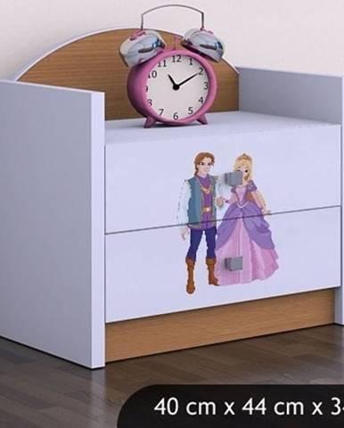 Happy Babies Nočný stolík HAPPY/ 37 Princ a princezná SZN01