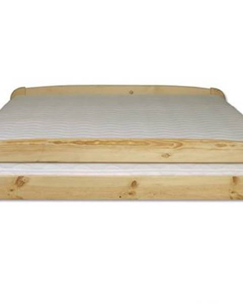 Drewmax Manželská posteľ - masív LK108   120cm borovica