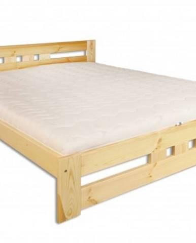 Drewmax Manželská posteľ - masív LK117 / 160 cm borovica