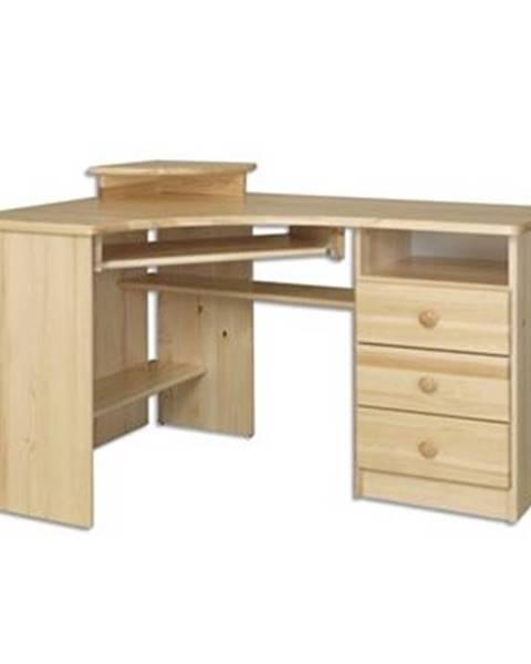 Drewmax Písací stôl - masív BR107 | borovica
