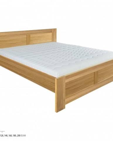 Drewmax Manželská posteľ - masív LK212 | 140 cm dub