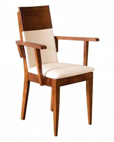 Drewmax Drewmax Jedálenská stolička - masív KT170 | buk / koža