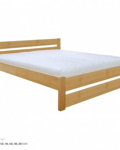 Drewmax Manželská posteľ - masív LK190 | 200 cm buk