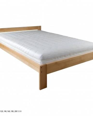 Drewmax Manželská posteľ - masív LK194 | 200 cm buk