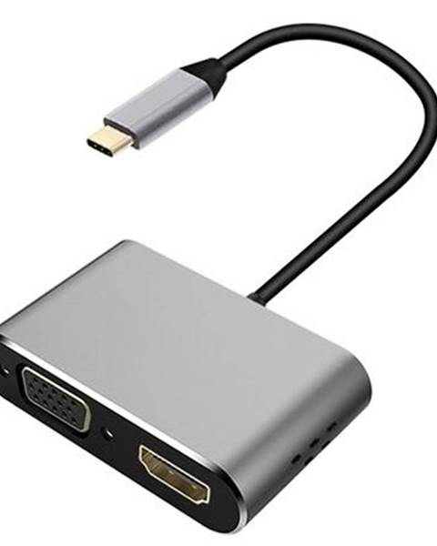 PLATINET Redukcia Platinet USB-C/Hdmi, VGA sivá