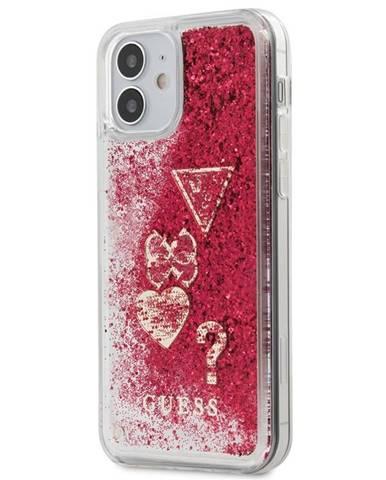 Kryt na mobil Guess Liquid Glitter Charms na Apple iPhone 12 mini
