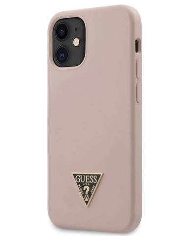Kryt na mobil Guess Silicone Metal Triangle na Apple iPhone 12 mini