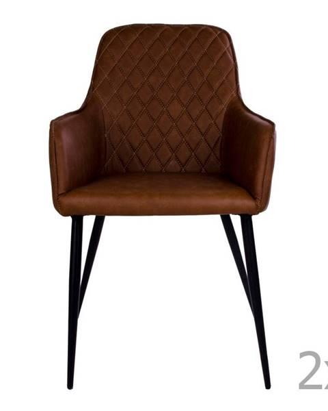 House Nordic Sada 2 hnedých jedálenských stoličiek HoNordic Harbo