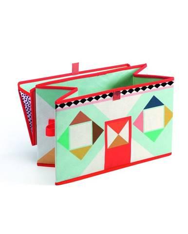 Pestrofarebná škatuľka na hračky Djeco Domček