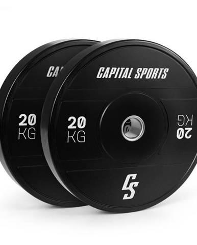 Capital Sports Elongate 2020, kotúče, 2 x 20 kg, tvrdá guma, 50,4 mm