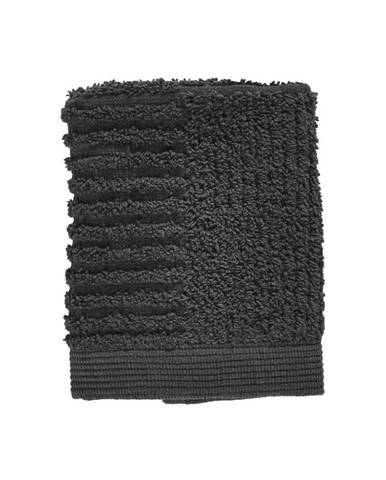 Antracitovosivý uterák zo 100% bavlny na tvár Zone Classic, 30×30 cm