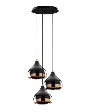 Závesné svietidlo v čierno-medenej farbe pre 3 žiarovky Opviq lights Yildo