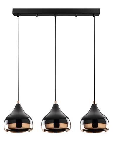 Závesné svietidlo v čierno-medenej farbe pre 3 žiarovky Opviq lights Yildo Long