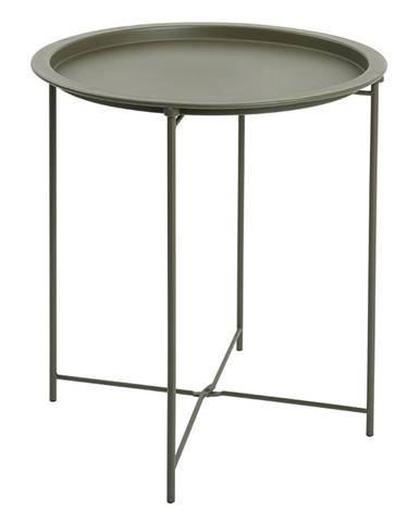 Príručný stolík s odnímateľnou táckou sivozelená RENDER