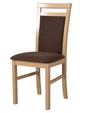 Jedálenská stolička MILAN 5 sonoma/hnedá