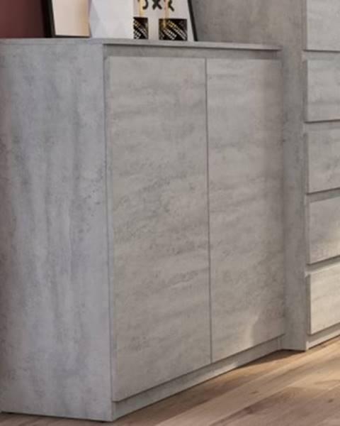 ASKO - NÁBYTOK Skrinka Carlos 802D, šedý beton%