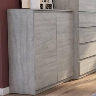 Skrinka Carlos 802D, šedý beton%