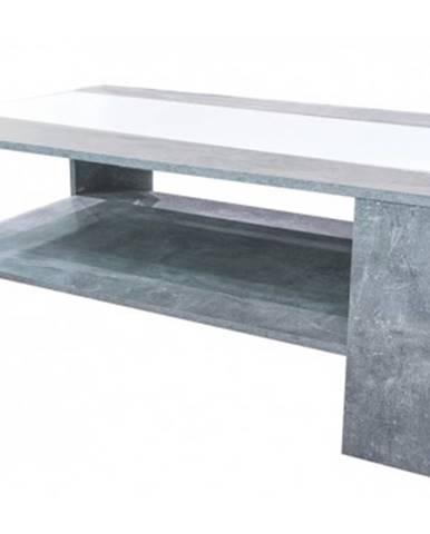 Konferenčný stolík AS-56, beton/biela%