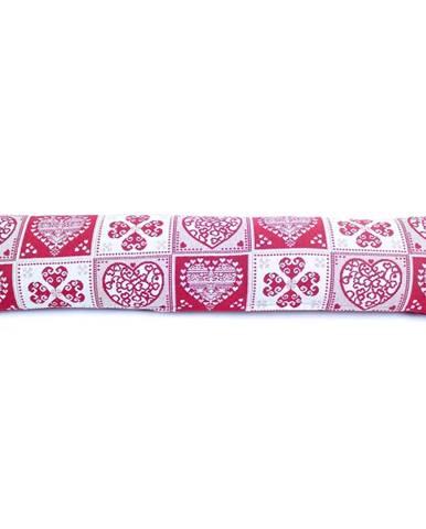 BO-MA Trading Ozdobný těsnící polštář do oken Srdce, 90 x 20 cm