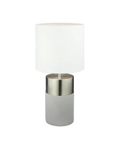Tempo Kondela Stolná lampa, svetlosivá/biela, QENNY TYP 19 LT8371