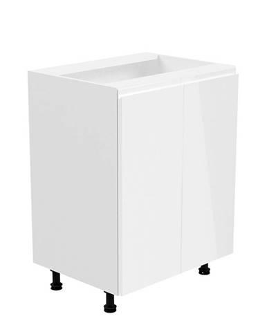 Spodná skrinka biela/biela extra vysoký lesk AURORA D602F