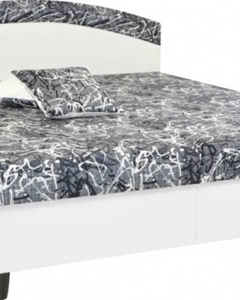 OKAY nábytok Čalúnená posteľ Corveta 160x200, vrátane matracov a úp