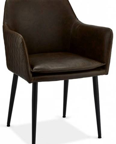 Jedálenská stolička Monda tmavo hnedá, čierna