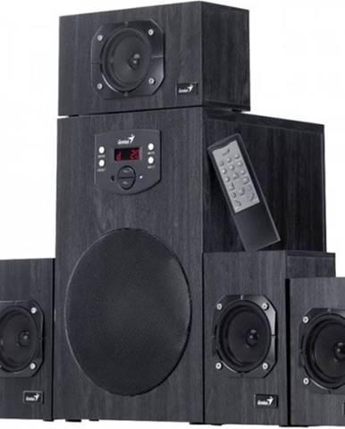 Reproduktory Genius SW-HF 5.1 4500 Ver. II, drevené, čierne
