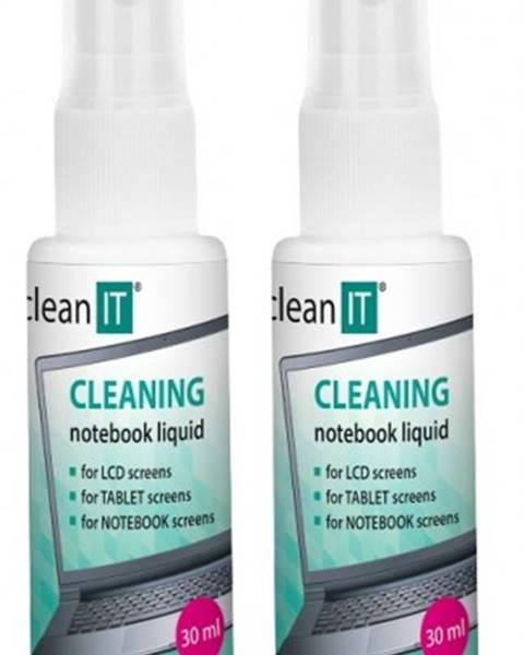 Clean IT Čistiace roztok na notebooky s utierkou CLEAN IT CL182, 2x30ml