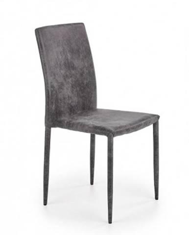 Jedálenská stolička Saiza sivá