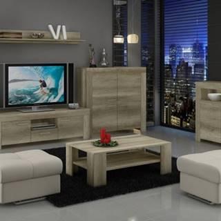 Sky - Obývacia stena, 2x komoda, stolík, svetlo